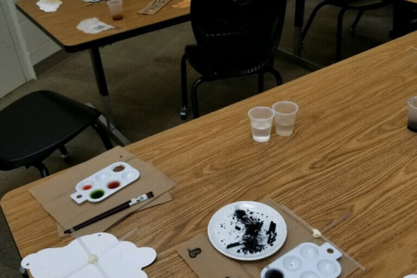Students at a Youth-In-Custody facility learned about the science behind cloud formations. They then had the opportunity to make their own clouds using water colors. The students created their own water color paints using spices and other natural materials to help represent the impurities needed to form clouds.