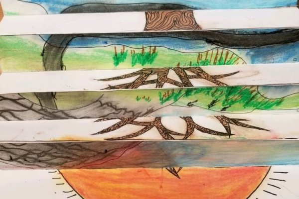 Students learned about climate change and how the environment is changing. They then demonstrated this change by using oil pastels to portray a place they love and how it might be changed in the future by climate change or how it has  already been affected.